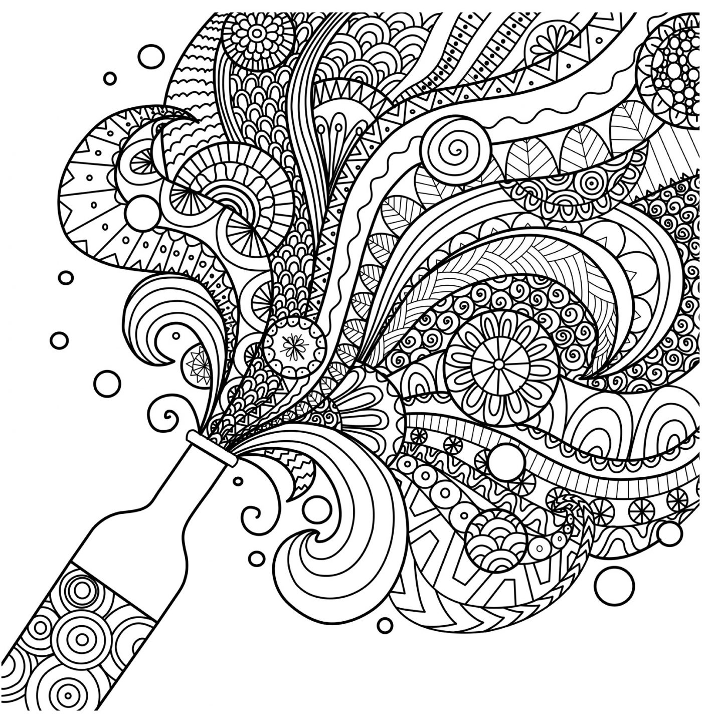Line And Art Design Srl : Coloriage pour adulte yvecourt vins de bordeaux